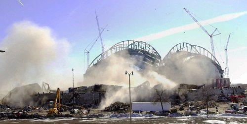 veterans stadium after demolition