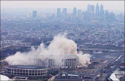 veterans stadium demolition